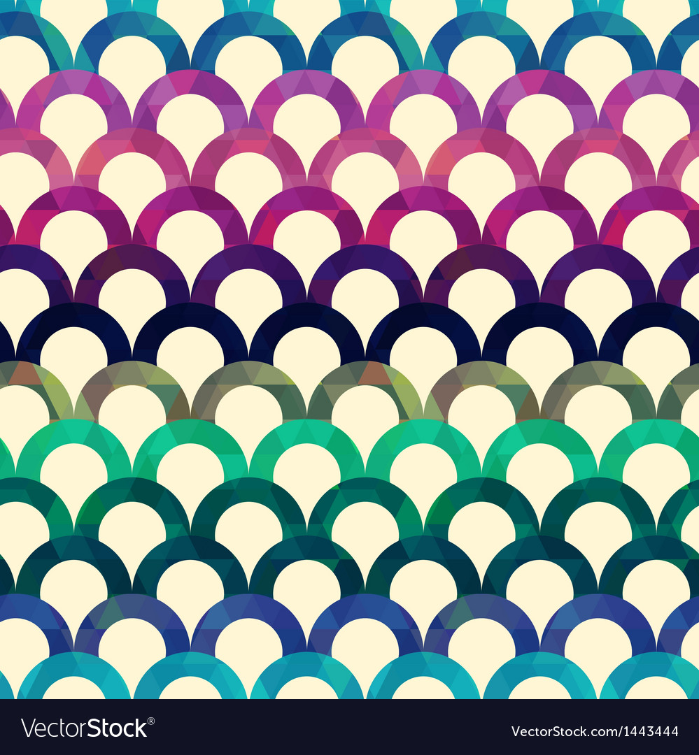 Seamless retro scallop background vector | Price: 1 Credit (USD $1)