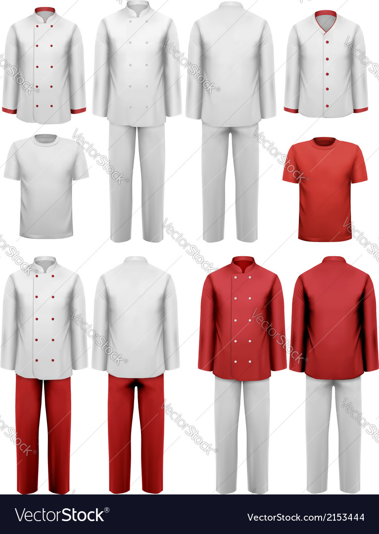 The set of various work clothes vector | Price: 1 Credit (USD $1)