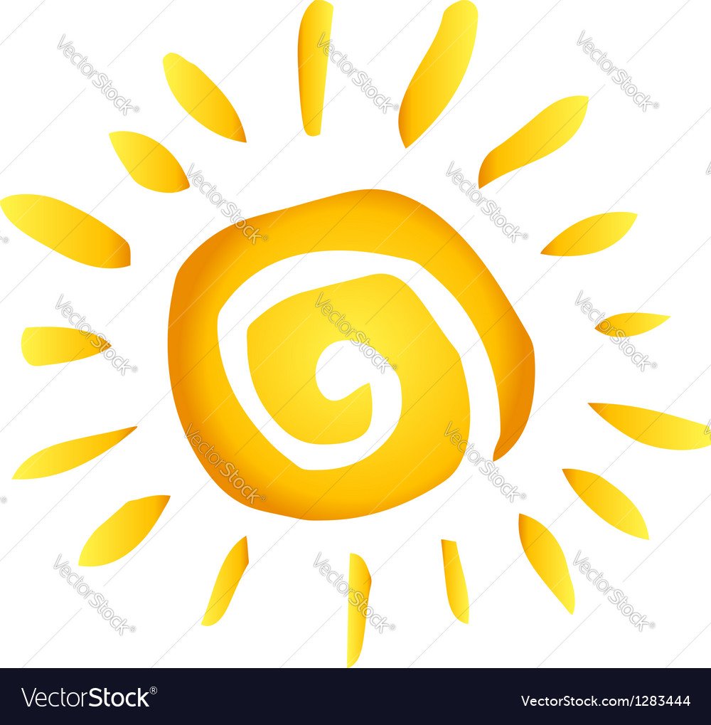 Summer hot abstract sun vector | Price: 1 Credit (USD $1)