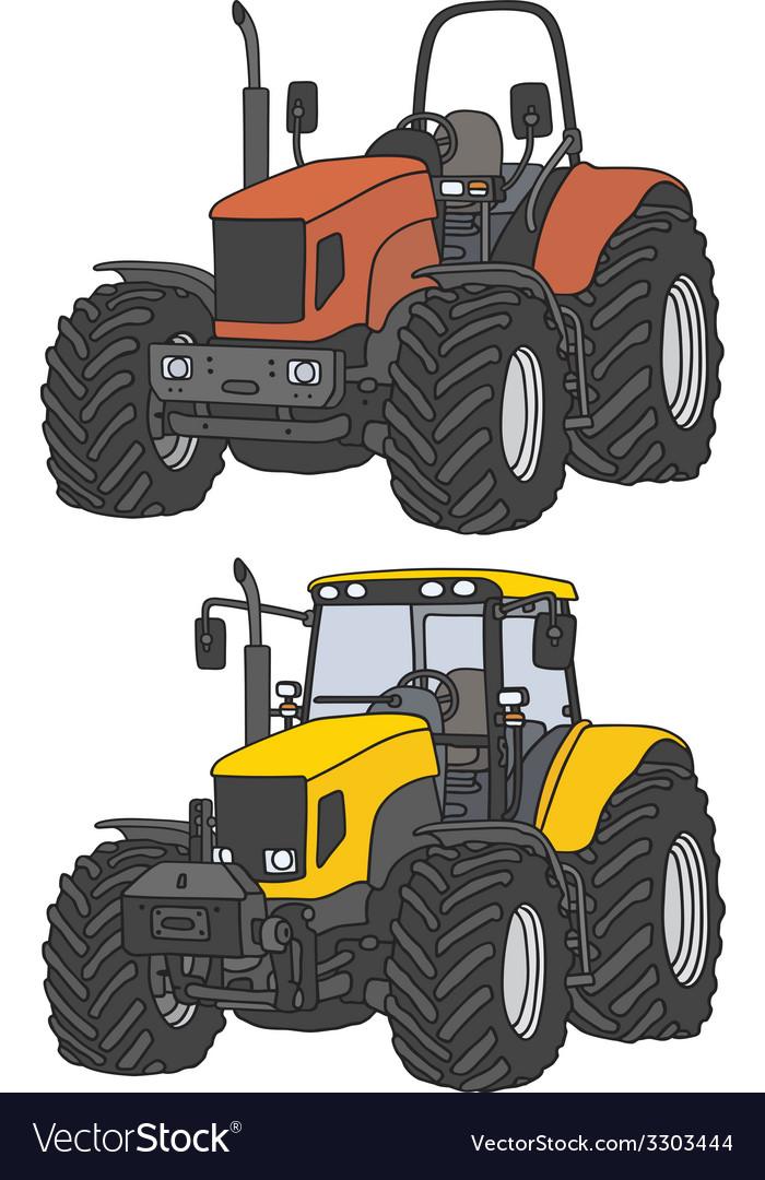 Tractors vector | Price: 1 Credit (USD $1)
