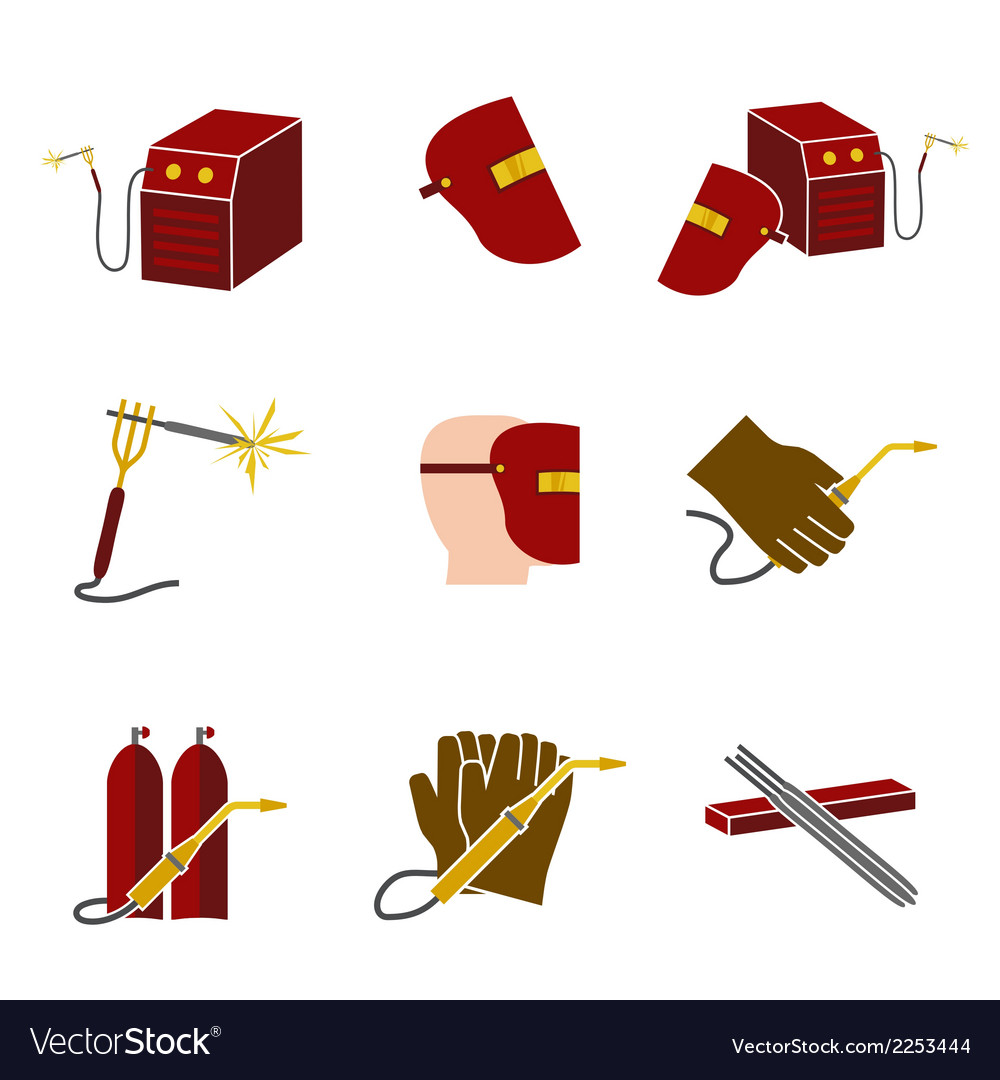 Welder icons set flat vector | Price: 1 Credit (USD $1)