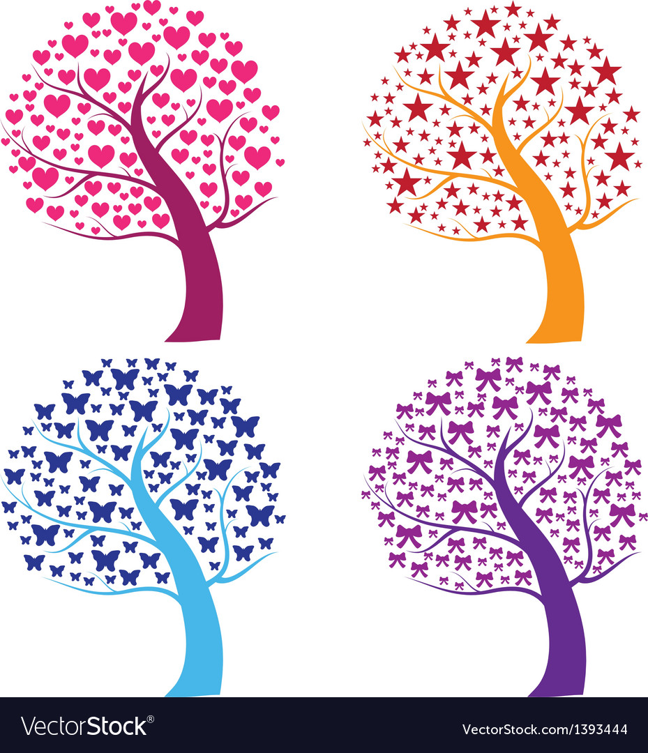 Whimsical pattern trees vector | Price: 1 Credit (USD $1)