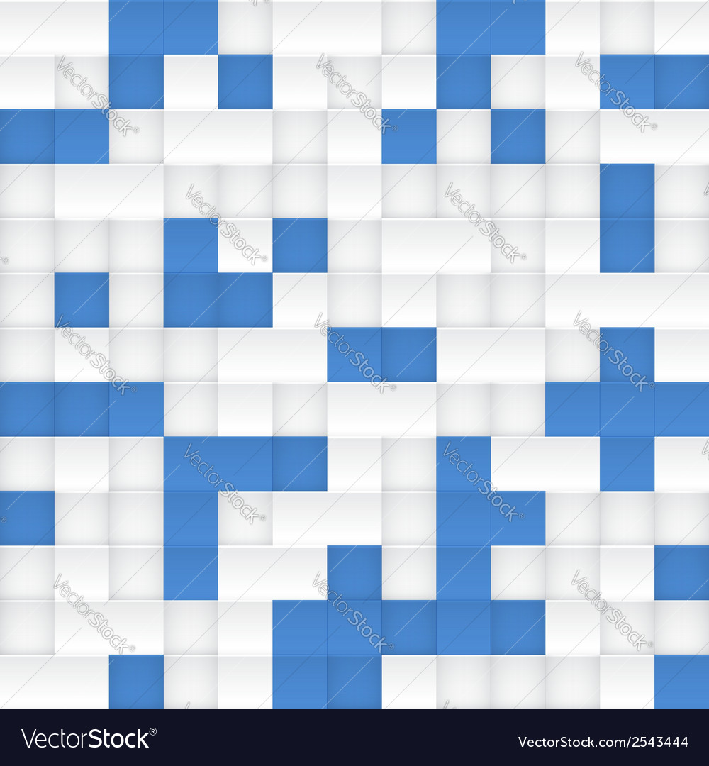 White and blue mosaic seamless pattern vector | Price: 1 Credit (USD $1)