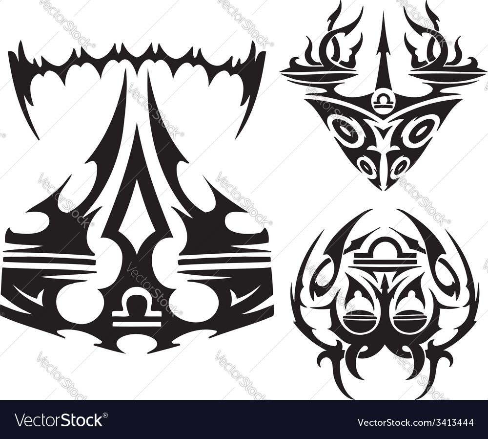 Zodiac signs - scales set vector | Price: 1 Credit (USD $1)