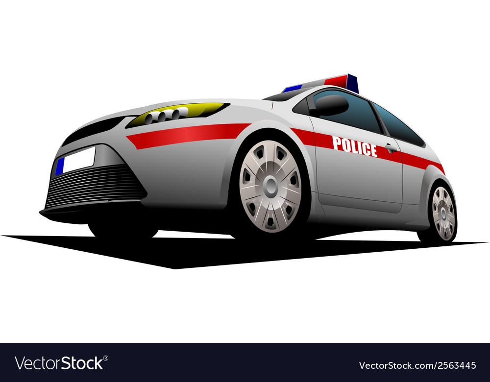 Al 1115 police car vector | Price: 1 Credit (USD $1)