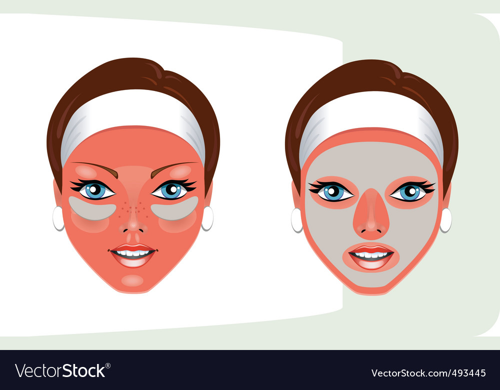 Beauty mask vector | Price: 1 Credit (USD $1)