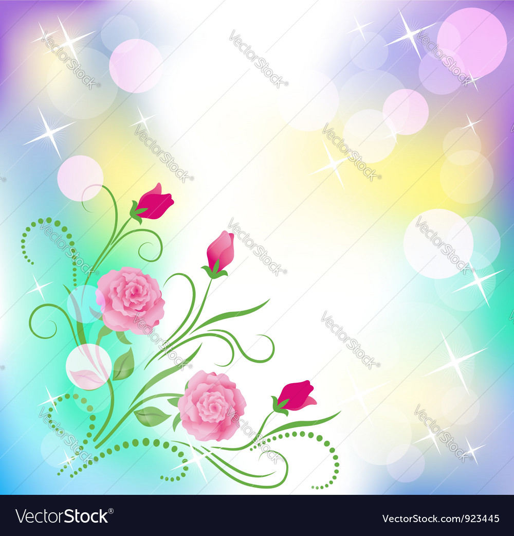 Floral background with boke vector | Price: 1 Credit (USD $1)