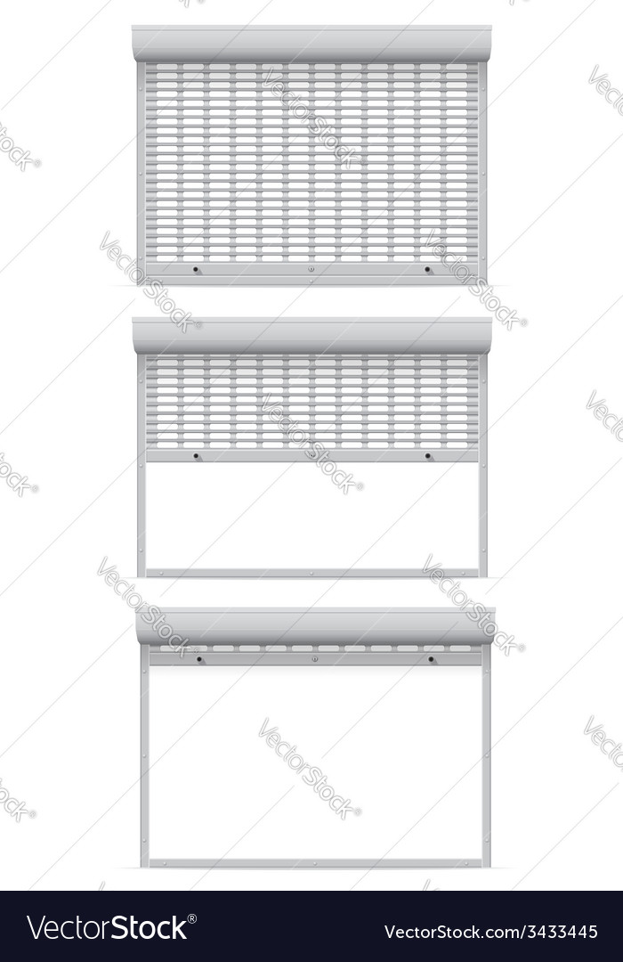 Metal perforated rolling shutters 08 vector | Price: 1 Credit (USD $1)