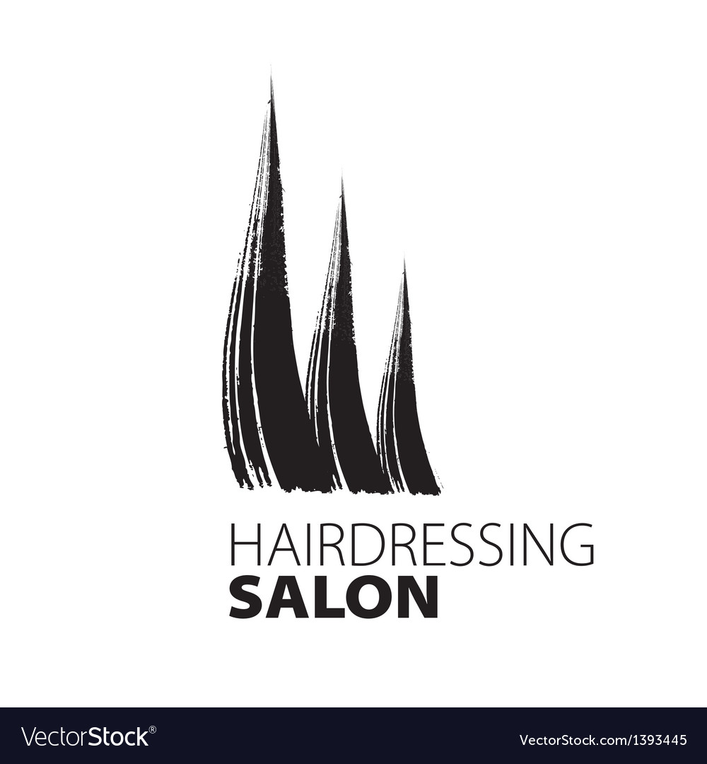 Modern creative logo for hairdressers vector | Price: 1 Credit (USD $1)