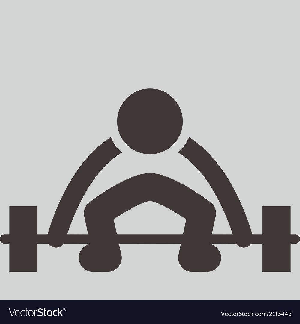 Weightlifting icon vector | Price: 1 Credit (USD $1)
