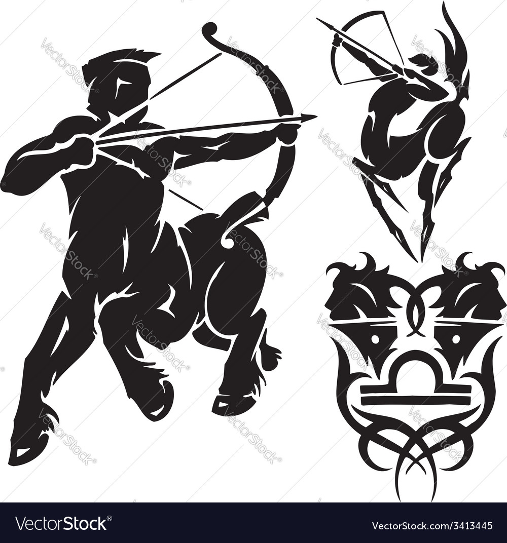 Zodiac signs - sagittarius set vector | Price: 1 Credit (USD $1)