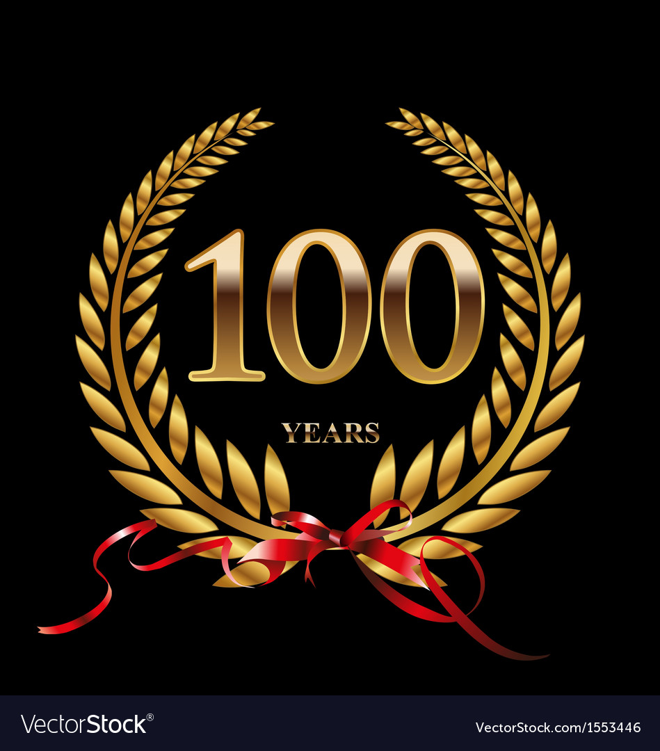 100 years anniversary laurel wreath vector | Price: 1 Credit (USD $1)