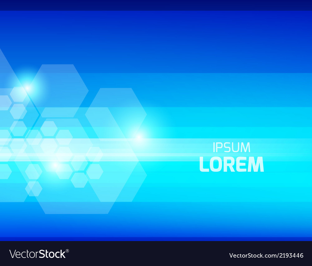 Abstract blue background with hexagons vector | Price: 1 Credit (USD $1)