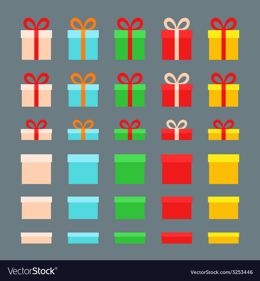 Christmas boxes vector   Price: 1 Credit (USD $1)