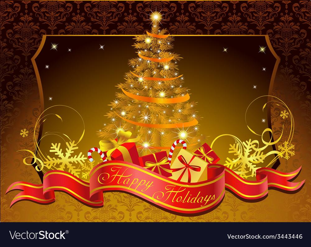 Classic christmas tree vector | Price: 1 Credit (USD $1)