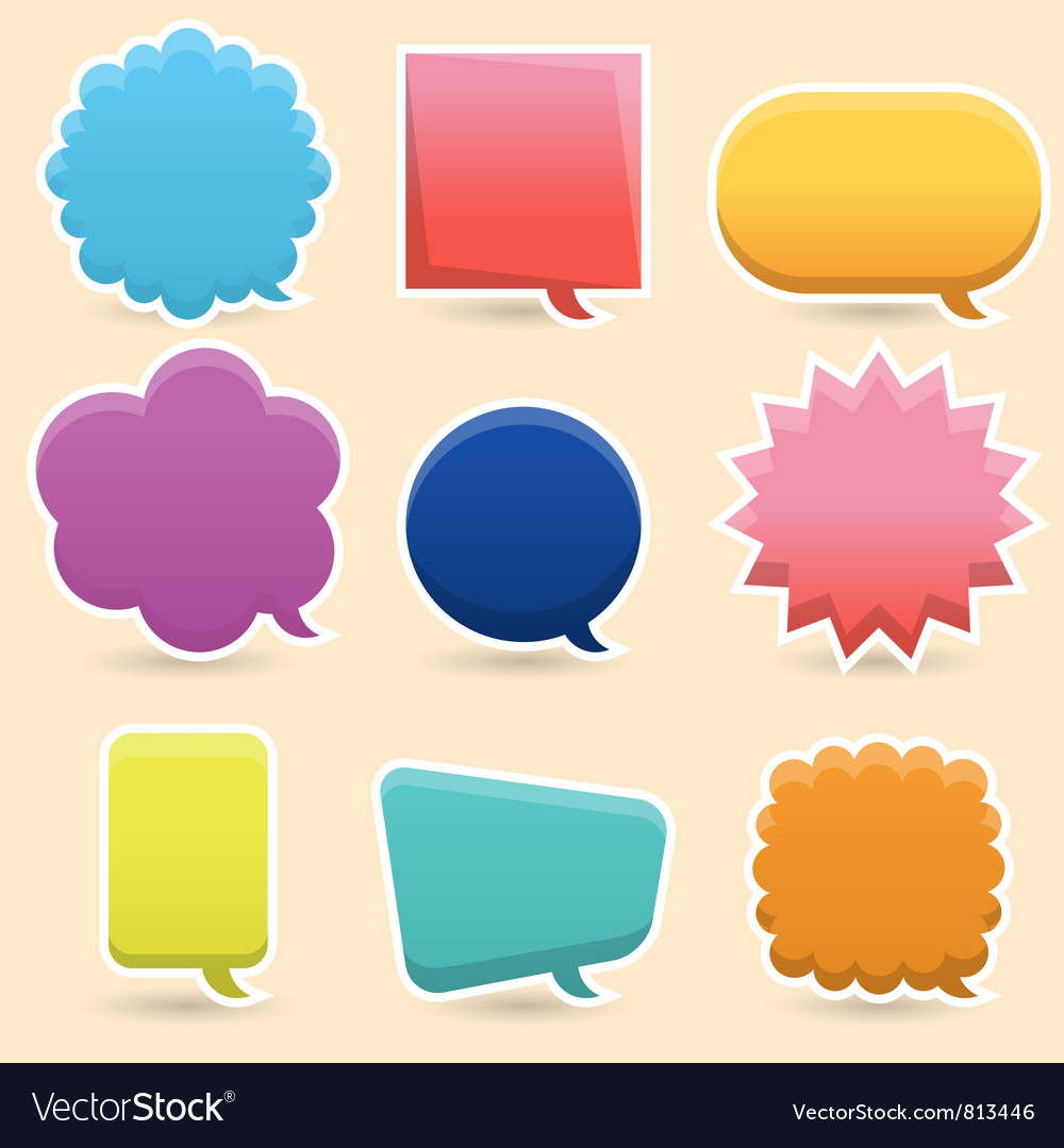 Colorful speech bubble vector | Price: 1 Credit (USD $1)