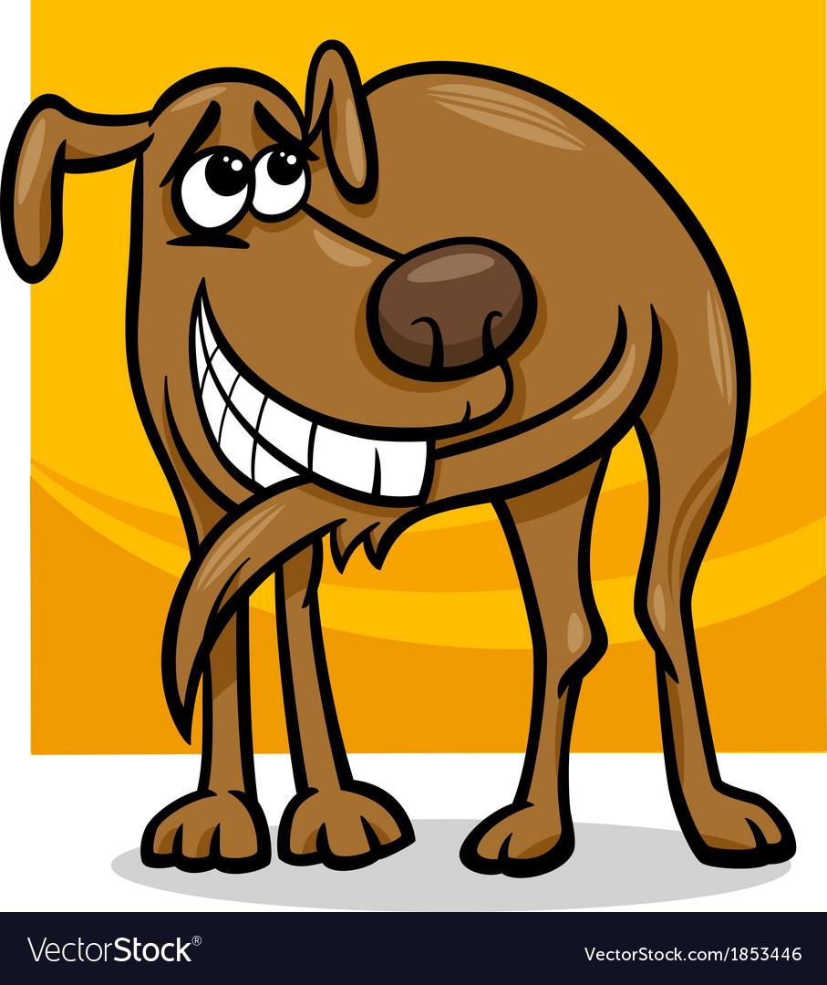 Dog chasing tail cartoon vector | Price: 1 Credit (USD $1)