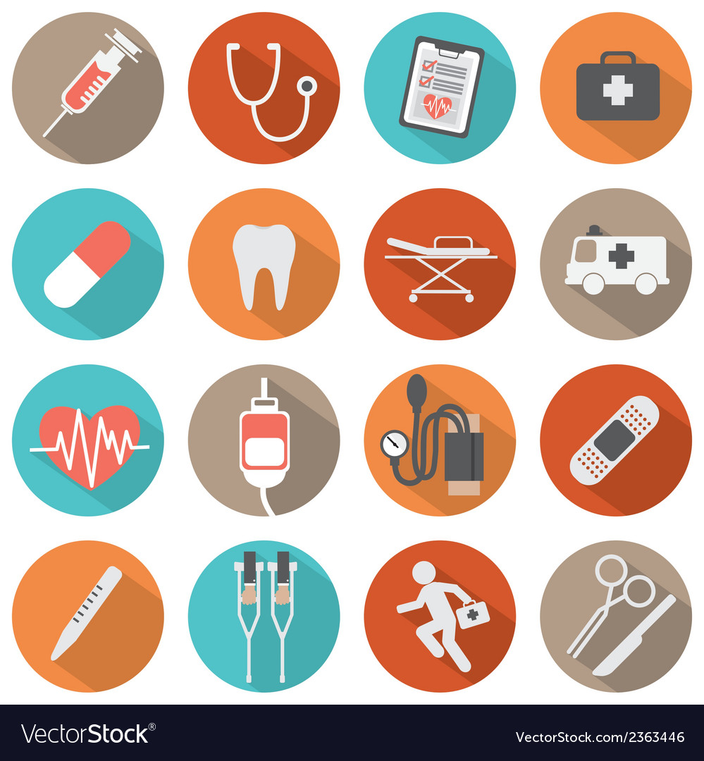Flat design medical icons vector | Price: 1 Credit (USD $1)