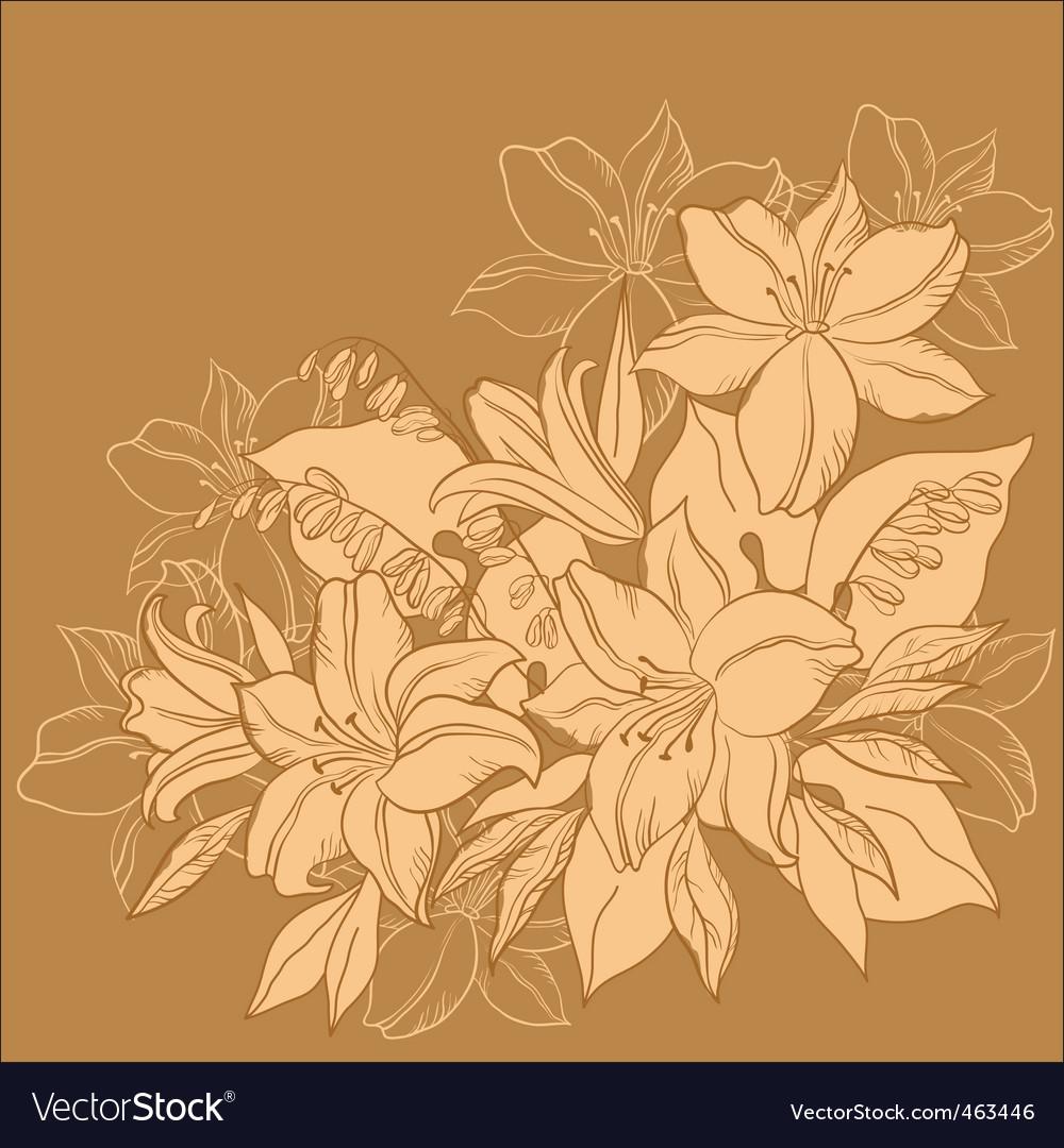 Flower background monochrome vector | Price: 1 Credit (USD $1)