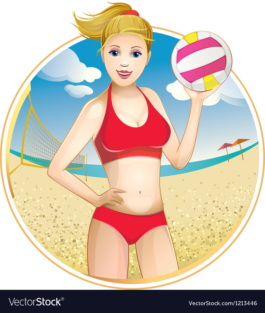 Girl volleyball vector | Price: 5 Credit (USD $5)