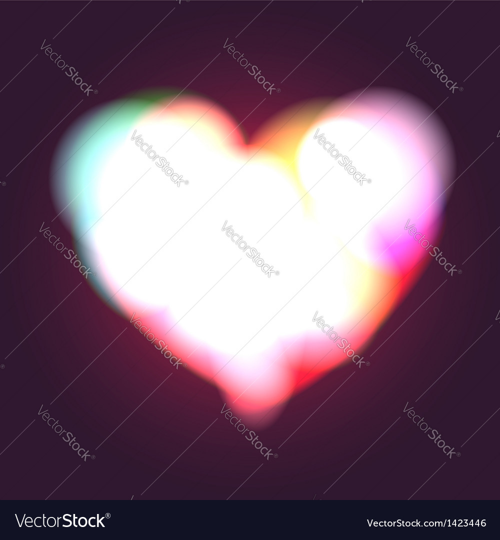 Glowing heart vector | Price:  Credit (USD $)