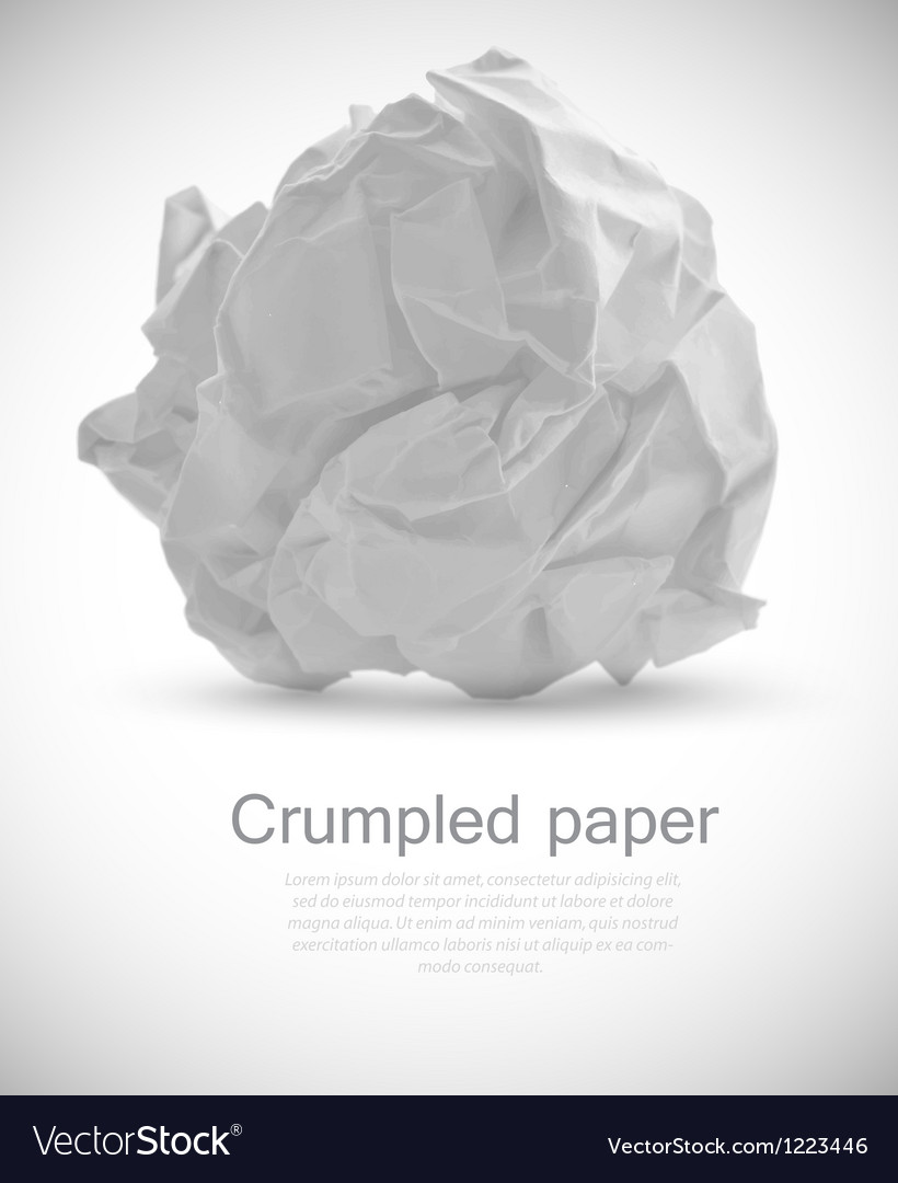 Grumpled paper vector | Price: 1 Credit (USD $1)