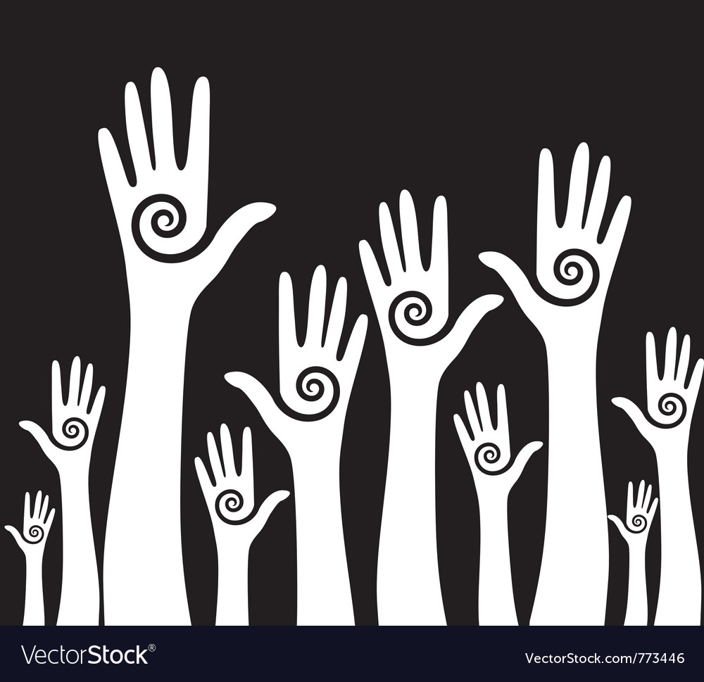 Hands up background vector | Price: 1 Credit (USD $1)