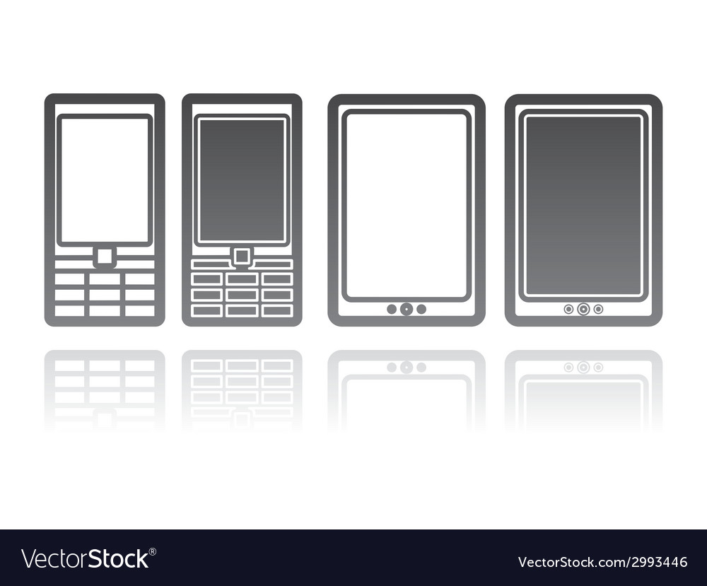 Mobile phones and tablet computers communication vector | Price: 1 Credit (USD $1)
