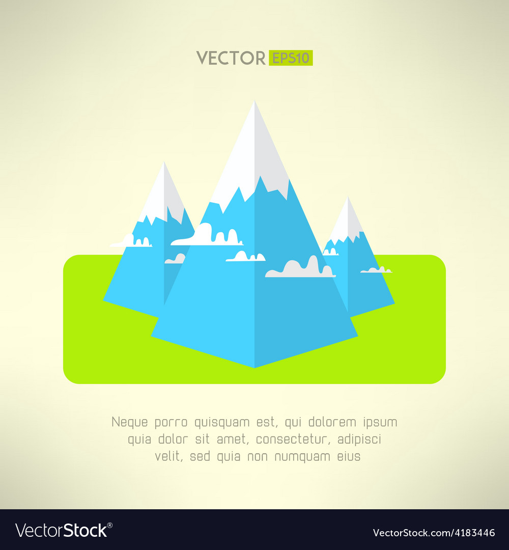 Mountains scene in a modern geometrical design vector | Price: 1 Credit (USD $1)