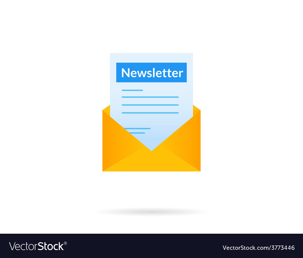 Newsletter vector | Price: 1 Credit (USD $1)