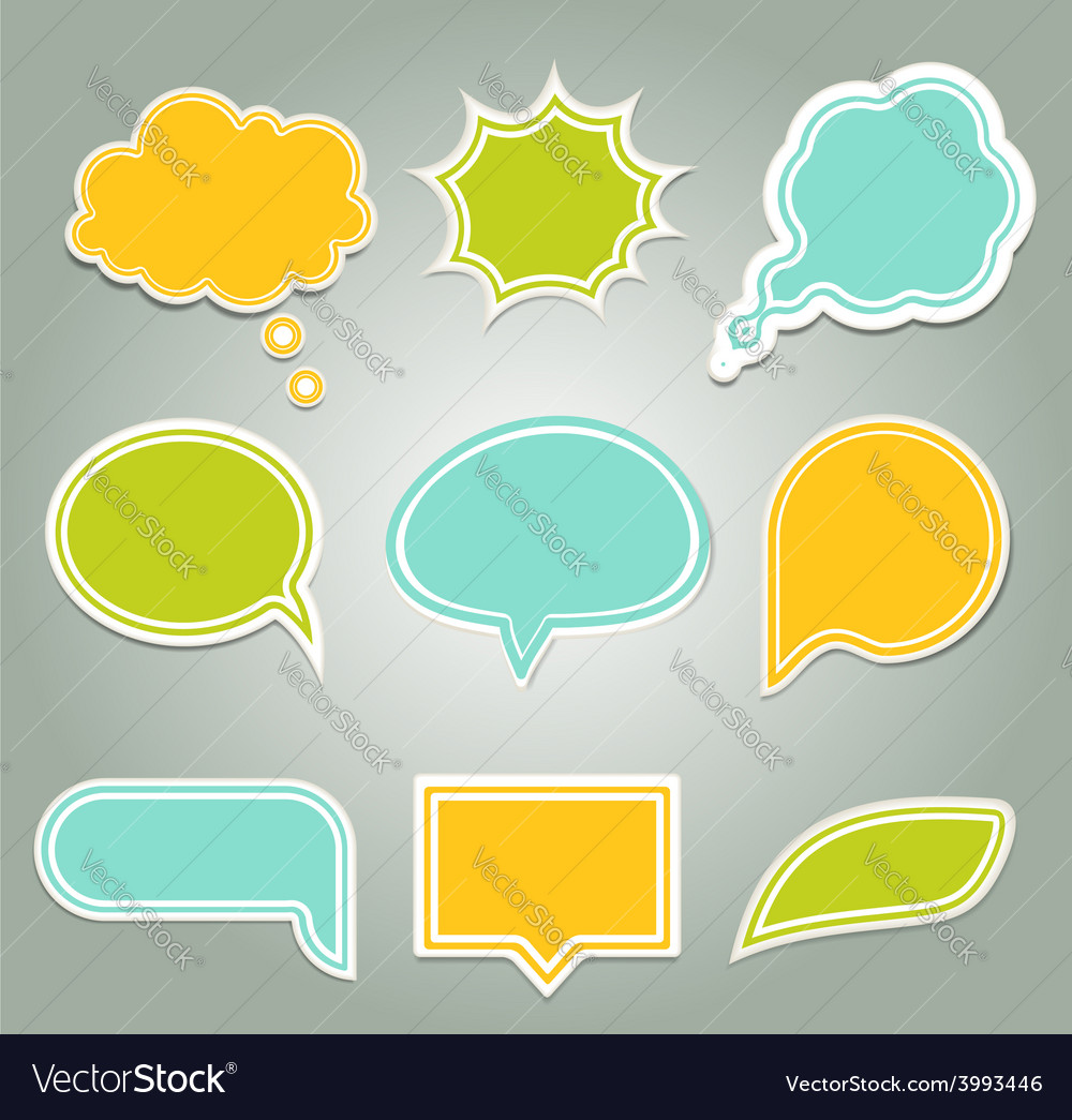 Set of colorful speech bubbles eps 10 vector | Price: 1 Credit (USD $1)