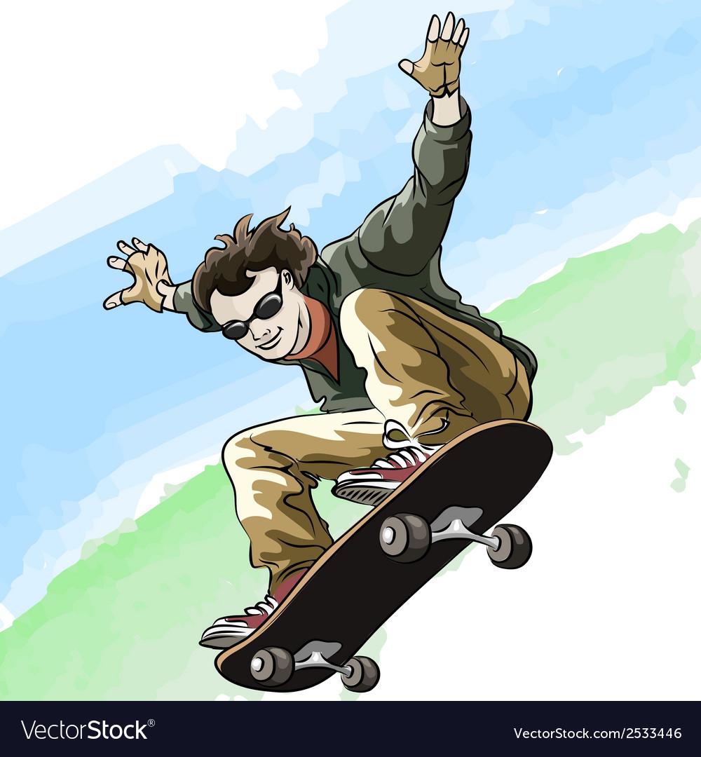 Skateboarding vector | Price: 3 Credit (USD $3)