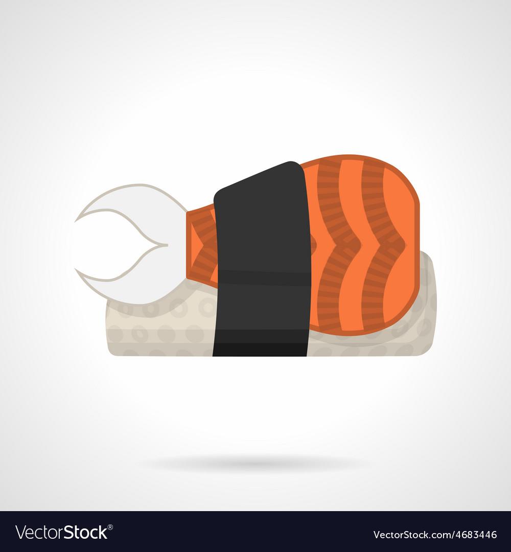 Sushi bento flat icon vector | Price: 1 Credit (USD $1)