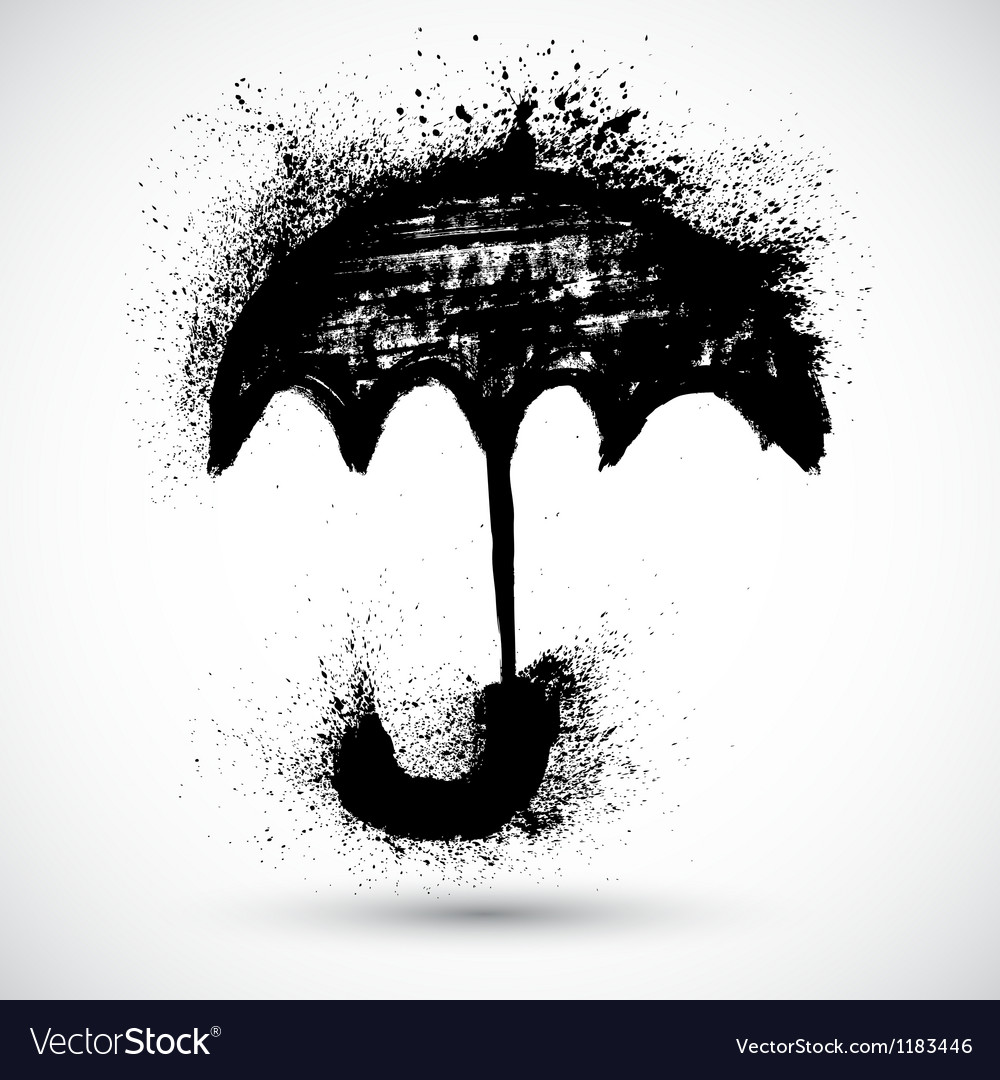 Umbrella grunge sketch vector | Price: 1 Credit (USD $1)