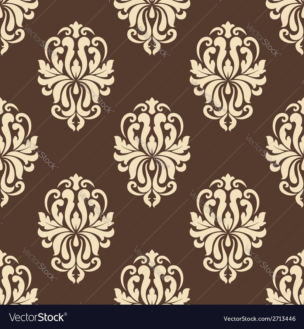 Vintage floral seamless pattern vector | Price: 1 Credit (USD $1)