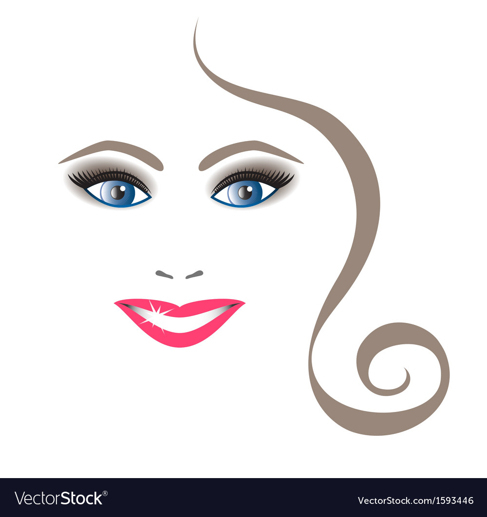 Young beautiful woman with shining smile vector | Price: 1 Credit (USD $1)