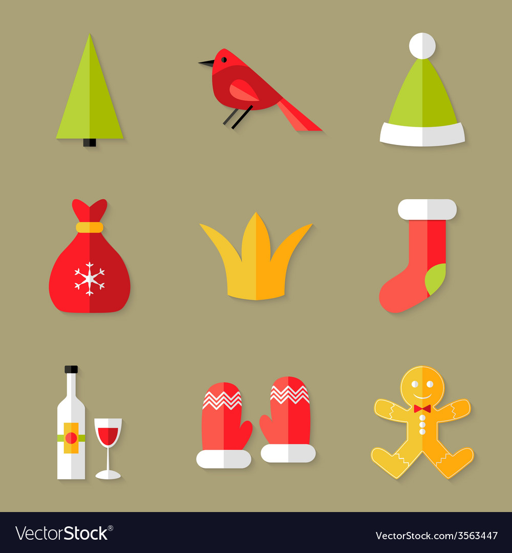 9 christmas icons set 6 vector | Price: 1 Credit (USD $1)