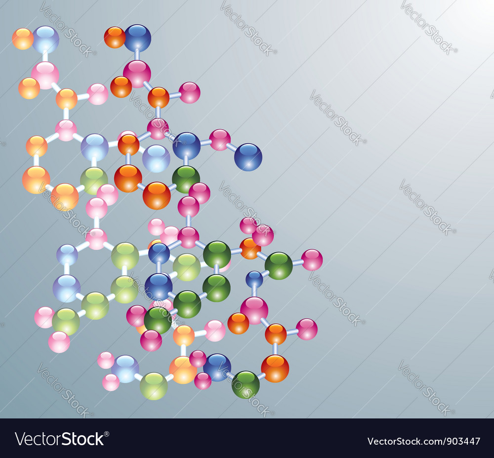 Abstract molecule background vector | Price: 1 Credit (USD $1)