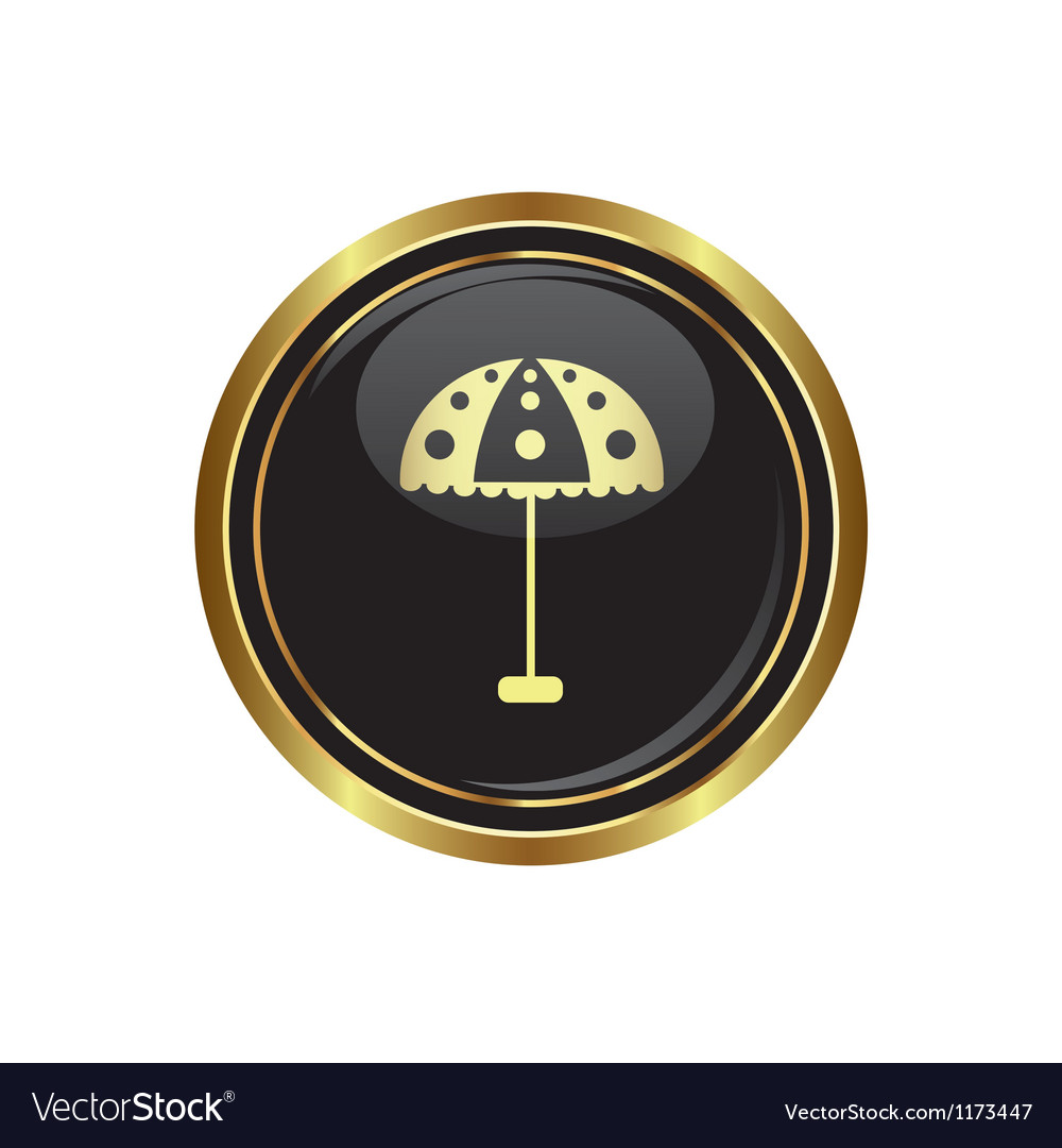 Beach umbrella icon vector   Price: 1 Credit (USD $1)