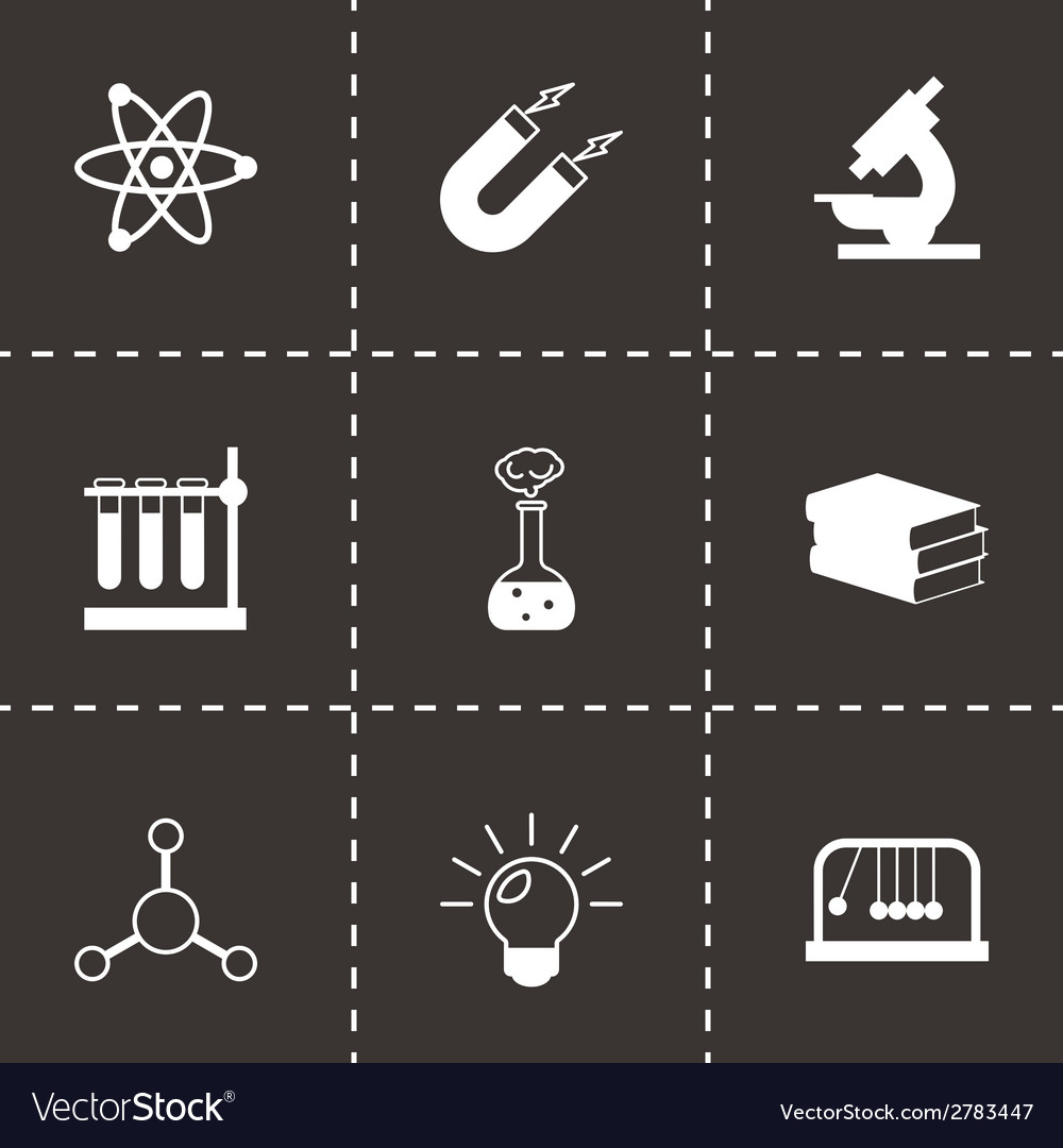 Black science icons set vector | Price: 1 Credit (USD $1)