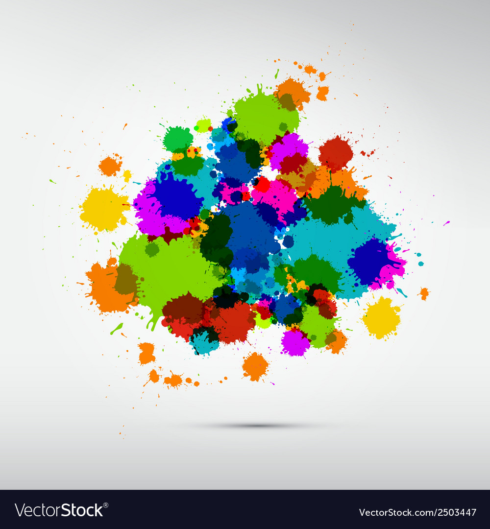 Colorful stains blots splashes background vector | Price: 1 Credit (USD $1)