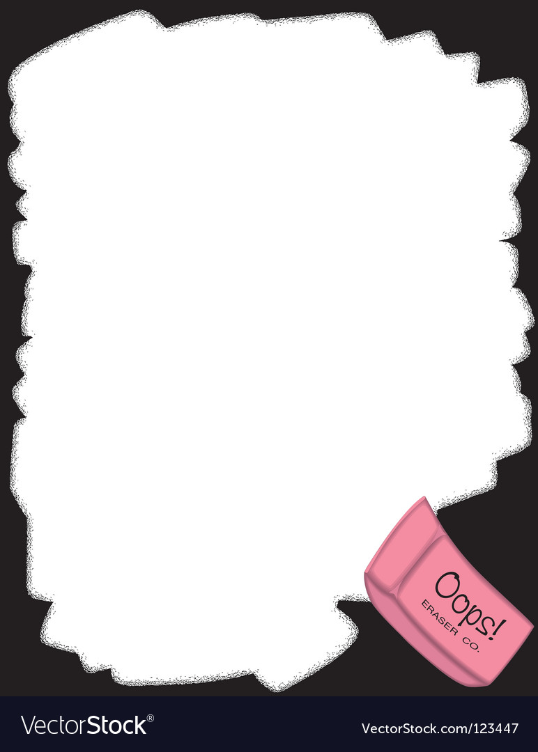 Eraser border vector | Price: 1 Credit (USD $1)