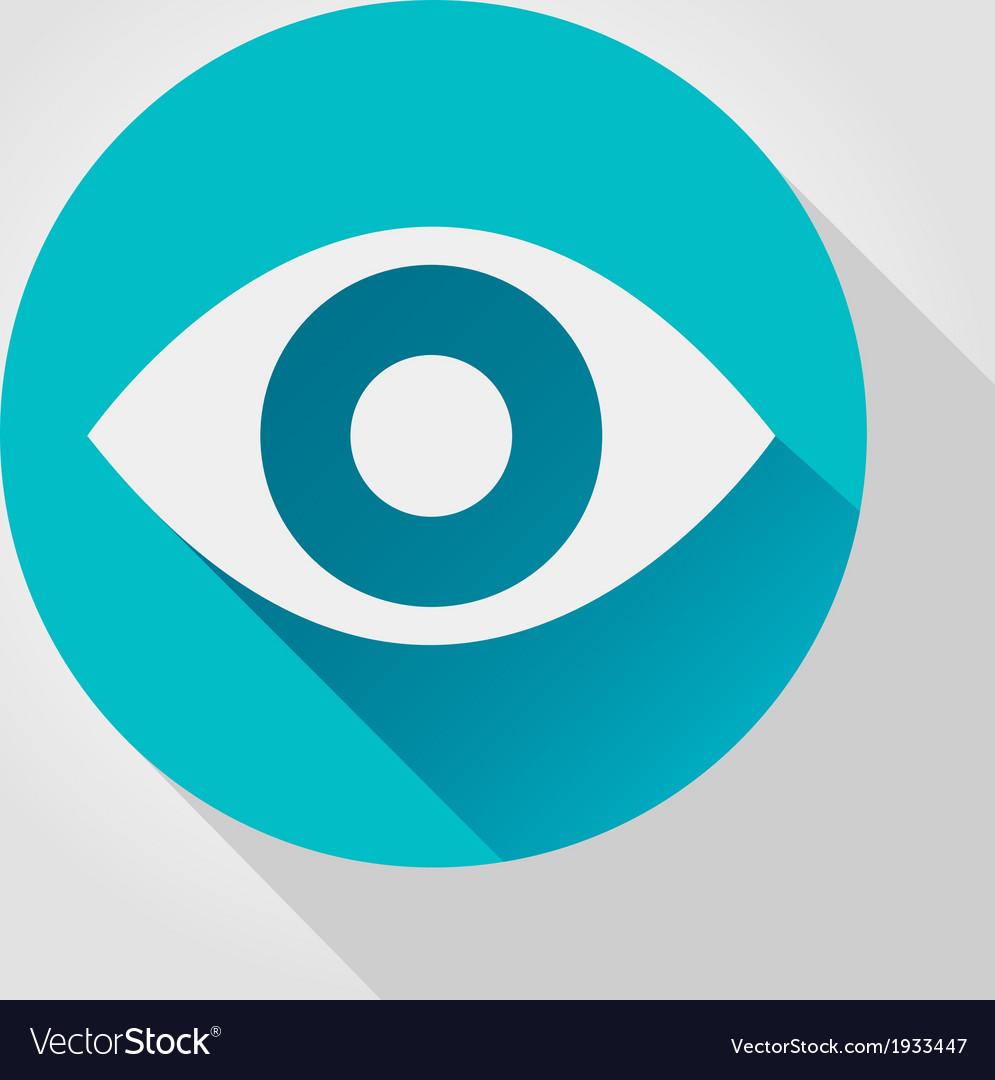 Eye icon flat design vector | Price: 1 Credit (USD $1)