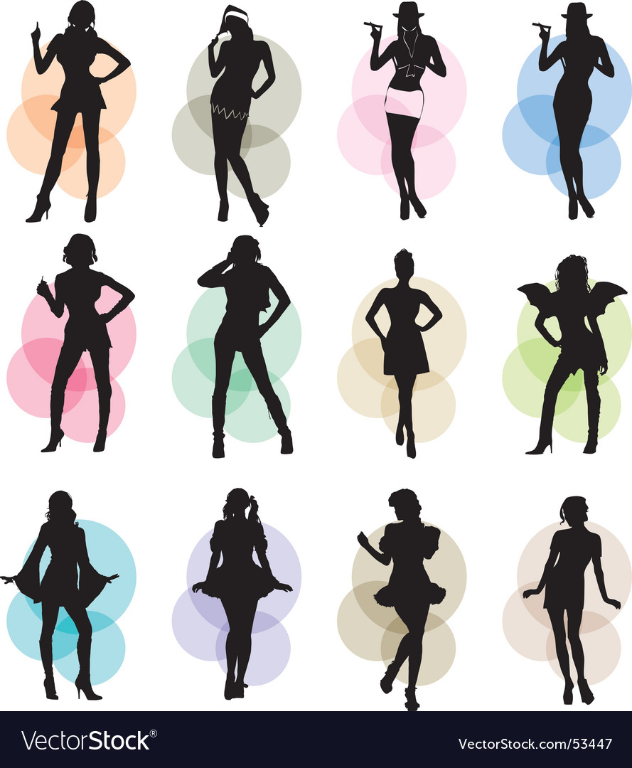Female icons vector | Price: 1 Credit (USD $1)