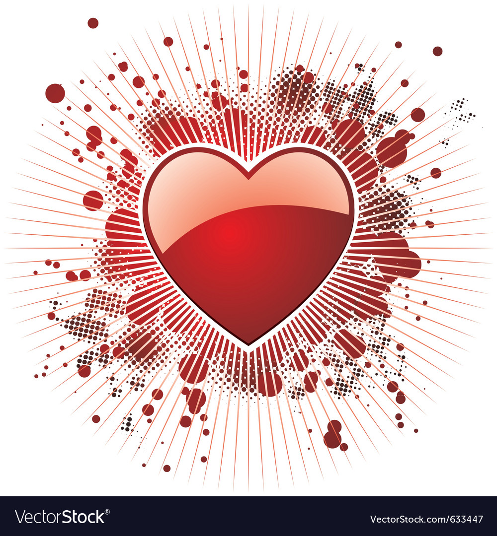 Glossy red heart vector | Price: 1 Credit (USD $1)