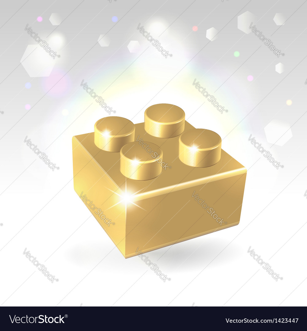 Golden construstion block award vector | Price: 1 Credit (USD $1)
