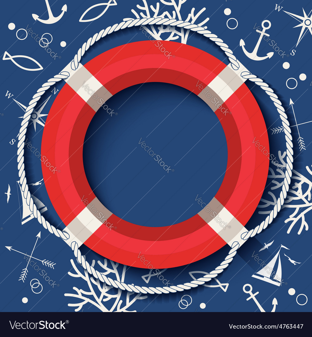 Lifebuoy banner vector | Price: 3 Credit (USD $3)