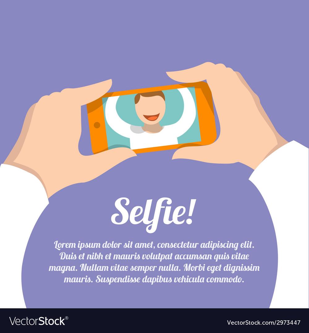 Selfie self portrait poster vector | Price: 1 Credit (USD $1)