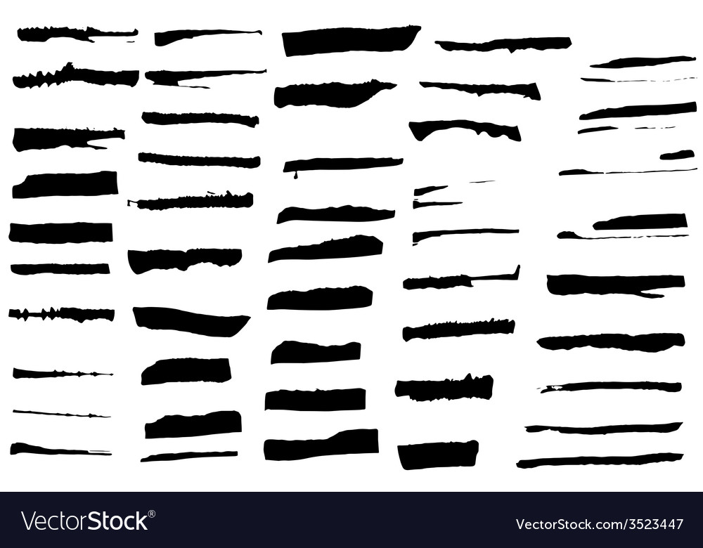 Set of black ink brushes vector | Price: 1 Credit (USD $1)