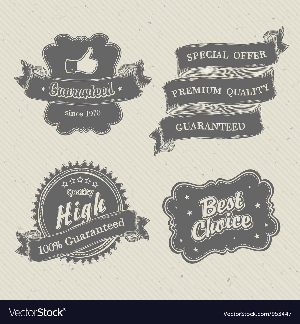 Vintage hand drawn label on textured paper vector | Price: 1 Credit (USD $1)